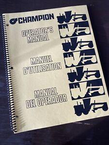 CHAMPION 700 SERIES GRADERS OPERATORS MANUAL Owners Book Guide Shop Maintenance