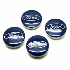 4pcs 54mm Ford Blue Wheel Center Caps Emblem Badge Logo Rim 6M211003AA