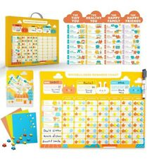 Behavior Chore Reward Star Chart Multiple Kids Toddlers Age - Magnetic Visual.