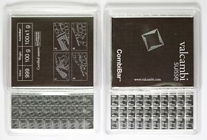 Valcambi Suisse Combibar 100 x 1 gram 999 Fine Silver Bar Mint Sealed Certified