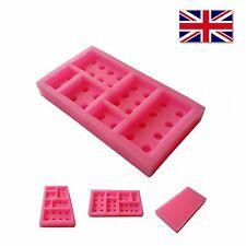 Molde para edificio Ladrillos Lego Silicona Chocolate Pastel Herramientas Decoración De Goma
