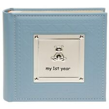 My First Year Blue Baby Boy Photo Album Picture Gift Present