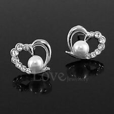 Pearl White Gold Plated Stud Fashion Earrings
