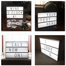 Light Up Message Notice Note Pad Board Letter Box LED Sign Wedding Party Bar