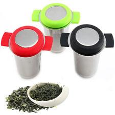 2. mit mesh deckel kaffee edelstahl silikon tee sieb filter