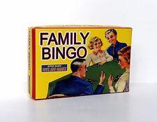 Family Bingo Game Retro 1950's Set