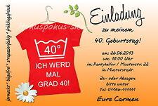 40 Witzige Einladungskarten Frauen Geburtstag Einladungen JEDES ALTER Party
