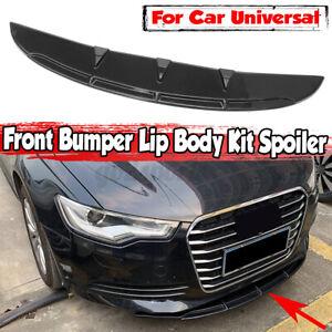 Black Front Bumper Spoiler Chin Lip Splitter Trim Car For Toyota BMW Universal