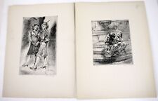 1939 ISABEL BISHOP Lithographs Set of 2 Signed in Plates Am Artist Prints