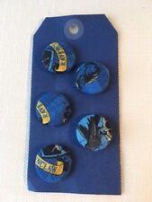 Set of 5 Harry Potter/Hogwarts Buttons/Badges 23mm diameter for Ravenclaw House