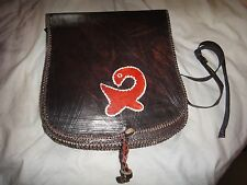 Ghana Dark Brown Leather Handcrafted Pouch Shoulder Bag