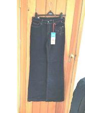 evisu indigo blue outline butterfly embroidered high waist wide leg jeans 27 wai