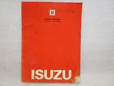 1983 ISUZU IMPULSE POWER STEERING AIMI-SVC-068