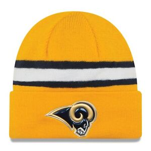 New Era Los Angeles Rams Color Rush Cuff Knit Beanie Hat Cap - Yellow