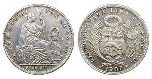 PERU 1/5 SOL 1907