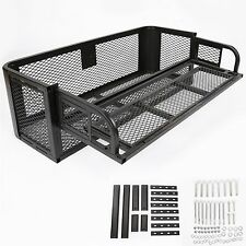 New ATV UTV Universal Rear Drop Basket Rack Steel Cargo Hunting