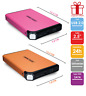 "Dan Elec - Disque Dur externe 2,5"" - Très mince - HDD 1To / 500Go... - USB 2.0"