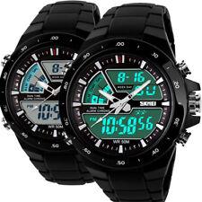 Herren Datumsanzeige Armbanduhr Quarz Digital analog Wasserdicht Sportuhr Uhr