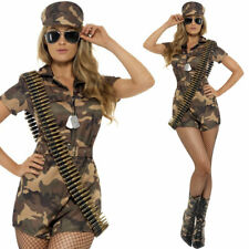 Smiffys Army Girl Costume Jumpsuit (Small) - 5020570688717