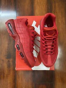 Men's Nike Air Max 95 Running Sneakers Mesh Varsity Red Size 9
