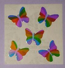🦁Sandylion Abriss Pearly Glanz Schmetterlinge Scrapbooking Sticker selten🦁