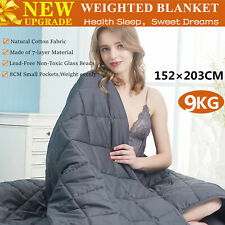 9KG Cotton Bedding Weighted Blanket Heavy Gravity Deep Relax Sleeping AU