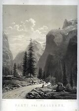 GALLERNE - Norwegische Landschaft - Original-Lithographie 1855.