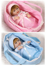 "2pcs Twins Reborn Babys Boy Girl Doll 11"" Soft Silicon Vinyl Newborn Toys Gift"