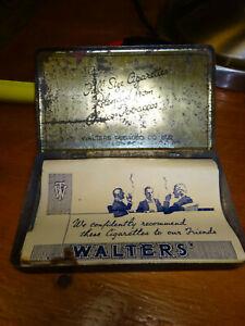 vintage tobacco tin Walters vintage cigarettes London