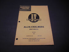 I & T Shop Service Manual, Allis-Chalmers AC-21 Model D-21