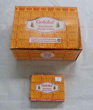 Goloka Nag Champa Dhoop Incense Cones Bulk 12 x 10 Wholesale Lot = 120 Cones!