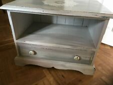 Painted blue white pink low bedside table drawer tv storage stand unit cabinet