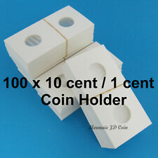 10 Cent 1 Cent 2x2 Cardboard Coin Holder - Pack of 100