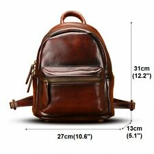 Women's Genuine Real Cow Leather Backpack Travel Bag Handbag 3 Colors