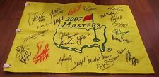(25) PAST MASTERS WINNERS SIGNED PIN FLAG W/COA MICKELSON COUPLES NICKLAUS +22