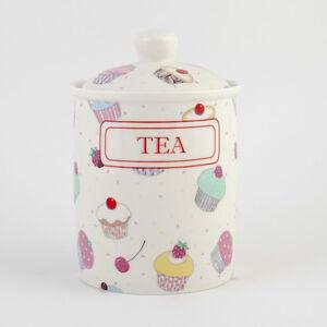 FAIRY CUPCAKE   TEA CANISTER / JARS FINE BONE CHINA CUPCAKES