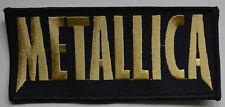 Metallica - Gold Logo Patch-keine Angabe #127713
