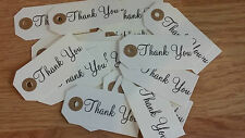 20 x Thank you gift tags craft supplies luggage tags paper wedding favours