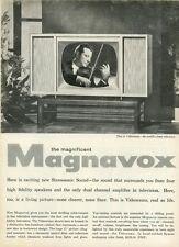 """""""MAGNAVOX"""" Annonce U.S. originale entoilée années 50 27x36cm"""