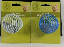 New listing Cat Toy Round Ball with Mouse Inside 2 pk Greenbrier Kennel Club New