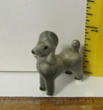 Vintage Bone China/Porcelain/Ceramic Miniature Gray Poodle Figurine