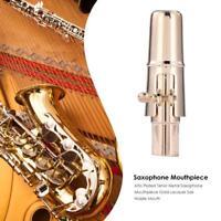 Alto Plated Tenor Metal Saxophone Mouthpiece Gold Lacquer Sax Nozzle Mouth