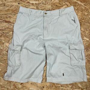 "Men's Beige Chino Cargo Shorts Polo Ralph Lauren Casual Cotton Summer, 38"" Waist"