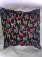 Alpaca print cushion cover Tapestry style fabric