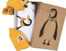 Mini Rodini Penguin Babykit Set aus Mütze, Body und Schuhe für Neugeborene NEU