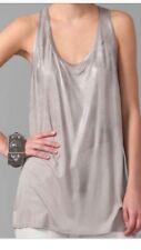 Helmut Lang grey long silver metallic gunmetal tank top shirt cami M rare