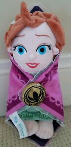 Disney Store Anna Plush Frozen Doll with Soft Swaddle Blanket 10 Inch New NWOT