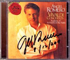 ANGEL ROMERO signé VIVALDI 6 Guitar Concerto & guitare Trio CD Saint-Martin RCA