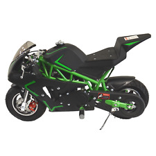 Motorcycle for Kids Gas Powered 40CC Green Pocket Bike Mini Ride On Boys Girls