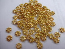 Gold Plated 4mm Daisy Spacer Beads Jewellery Findings Craft Bead G142 500 Pcs